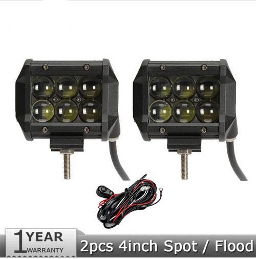 2pcs 30W/pc 4inch CREE Chips Spot/Flood Beam LED Work Lights 12v 24v Trucks SUV ATV UTV 4WD 4X4 Offroad Driving Headlamps
