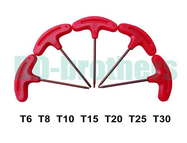 top popular T Screwdriver T6 T8 T10 T15 T20 T25 T30 Torx Screwdrivers Spanner Key S2 Explosion-Proof Screw Drivers Tools 100pcs 2019