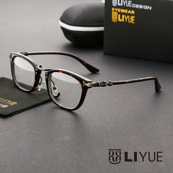 Wholesale- clear glasses eye glasses frames for women New prescription eyewear vintage optical frame oliver peoples computer glasses 73668