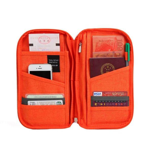 Brand Travel Passport ID Card Storage Organizer Wallet Women Men Journey Document Ticket Holder Package Cotton Linen Clutch Bag Cash Purse