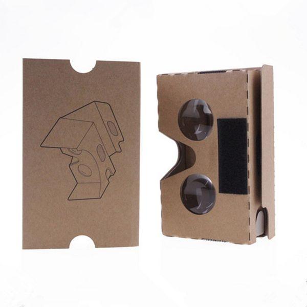 Fai da te Google VR Cardboard 2.0 V2 occhiali VR scatole di carta Realtà virtuale 3D Visualizzazione google II Occhiali per iphone x 8 plus se Samsung S9 plus