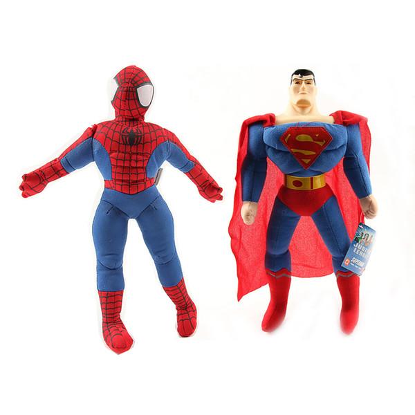 Novos Os Vingadores Homem-Aranha Superman De Pelúcia Boneca De Pelúcia Brinquedo Para A Criança Presentes (10 pçs / lote / Tamanho: 9.5