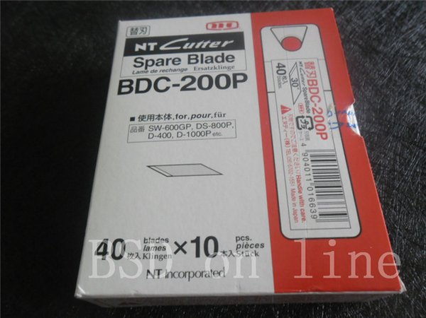 hot selling Airlfa for 400pcs/lot NT CUTTER BDC-200P 45-degree angle pen knife blade 400pcs/Box