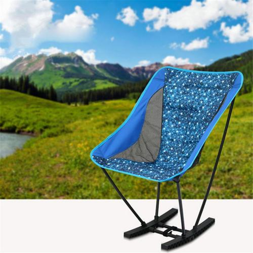 Folding Rocking Chair Outdoor Design Portable Lightweight Camping Stool Chair for Outdoor Camping Picnic Fishing thicker Oxford cloth