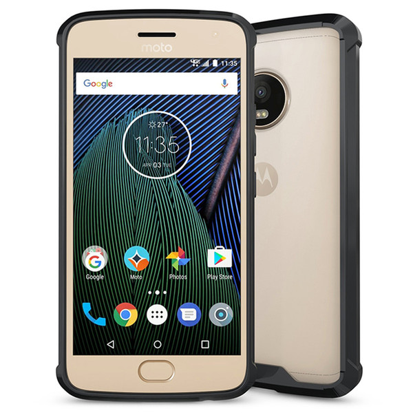 Transparent Protection Case for Motorola Moto G5 Plus / LG G6 Acrylic Clear Armor Heavy Duty High Impact Tough Shockproof Hard Back Shell