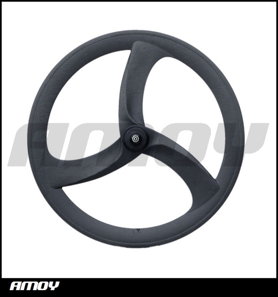 700c carbon tri spoke wheelset track bike wheels or road bicycle carbon 3 spokes with HED painting