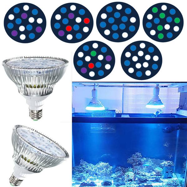 45 W E27 LED Akvaryum Işık Fikstürü Par38 Mercan Resif Lambası LPS SPS için LED Ampuller