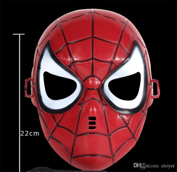 2017 Hallowmas Spider-Man Home The Coming The Avengers Red Black Classic Spider-Man máscara facial completa Más barato traje de Hallowmas máscara de fiesta