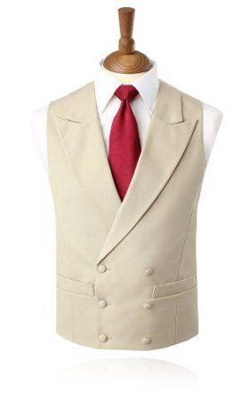 All'ingrosso-2017 Ultimo cappotto Pant Design Ivory Beige Vest Gilet doppiopetto con risvolto Risvolto gilet Slim Fit Tuxedo Prom Giacca Masculino