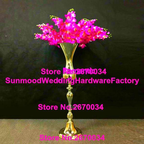 Artificial flower large and tall arrangement stand wedding table centerpieces,event decor planters for flower arrangement