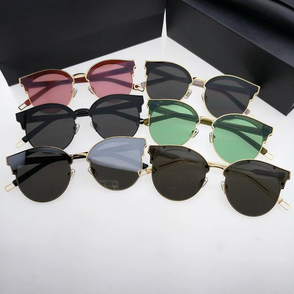 La nouvelle 2017 dame de marque lunettes de soleil de marque avec des verres  ronds en 24e4a97f38da