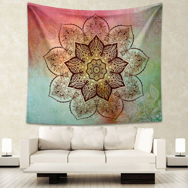Super Floral Geometric Tapestry Indian Bedspread Wall Hanging Mandala Rectangle Polyester Couch Blanket Cover Home Decor Beach Mat Boho Wall Tapestry Buddha Pabps2019 Chair Design Images Pabps2019Com