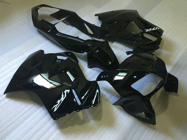 Kit carene moto per HONDA VFR800 98 99 00 01 VFR800RR 800 1998 1999 2000 2001 Set carene ABS nero lucido + regali Hw01
