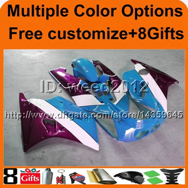 23colors+8Gifts BLUE ZXR250 90-92 ZXR 250 1990-1992 90 92 motorcycle ABS fairing for Kawasaki