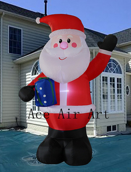 Christmas Inflatable.2019 Decora Christmas Inflatable Santa Claus With Candy Cane Indoor Outdoor Yard Decoration From Aceairartgroup 427 14 Dhgate Com