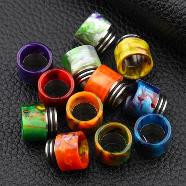 top popular TFV8 Drip Tips SS Epoxy Resin Fit Vape TFV8 Atomizer Tank Stainless Steel+Epoxy Resin Wide Bore 810 Mouthpieces 2021