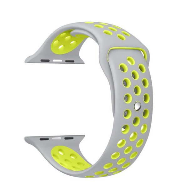 New Arrived NK Sport Silicone More Hole Straps Bands For Watch Series 1/2 Strap Band 38/42mm Bracelet windows phone senior phonecubot phone