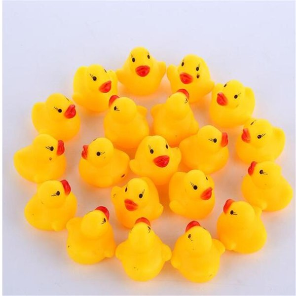 best selling High Quality Baby Bath Water Duck Toy Sounds Mini Yellow Rubber Ducks Bath Small Duck Toy Children Swiming Beach Gifts