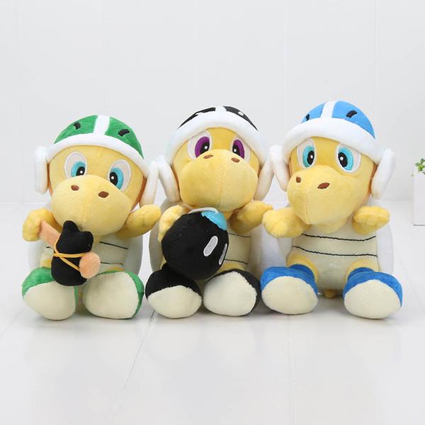 3 pcs / ensemble 18 cm Super Mario Bros Bombe Bro Koopa Troopa Boomerang marteau Doux Peluche Jouet Poupée Super Mario jouets