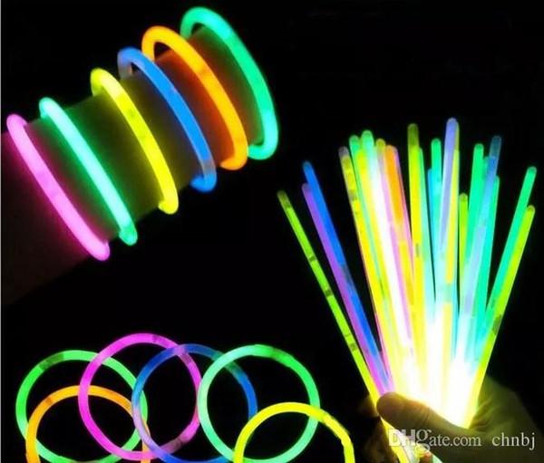 Multicolor Hot Light Stick Armband Halskette Neon LED Flash Stick Magie Magie Neuheit Spielzeug LED Gesangskonzert LED Flash Stick