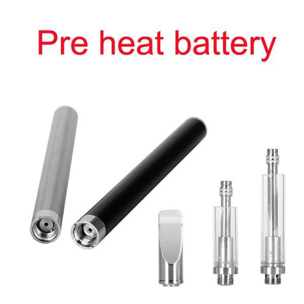 2017 Nuevo Trending Mix2 Battery Glass tanque de aceite grueso Precalentamiento Vaporizador E Cigarette Battery 510 Mini Mix2 Voltaje Variable Atomizador de Aceite