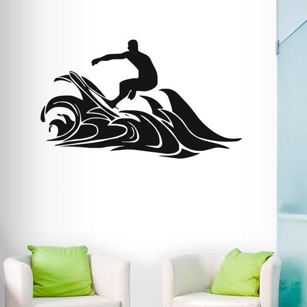 Diamond level Hot Extreme Surf Sports Wall stickers Waterproof Home Decor Vinyl Art Wallpaper Custom Color Kids Room Bathroom