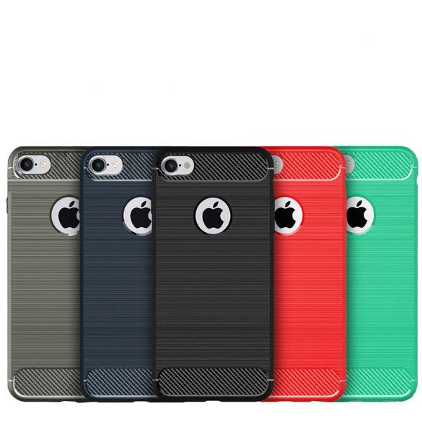 Custodia morbida in TPU anti-goccia in TPU di lusso per iPhone 5s 6 7 7plus Cover posteriore