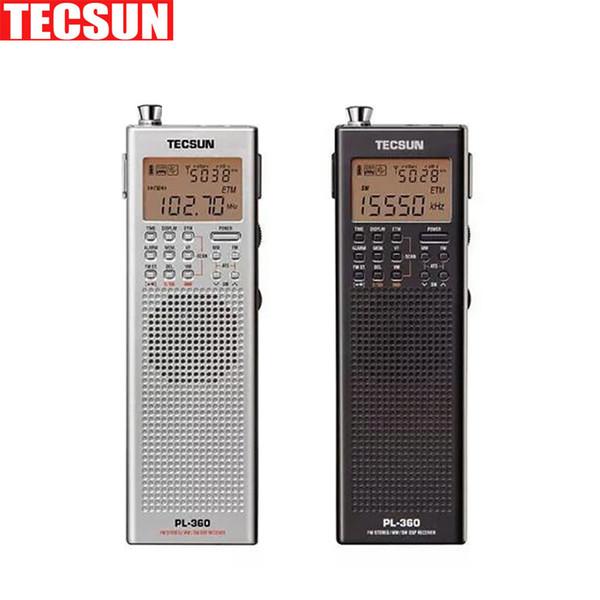 Wholesale-Original Tecsun PL 360 portable digital Radio usb AM FM pocket radio recorder Shortwave PLL DSP ETM SW MW LW Receiver pl-360
