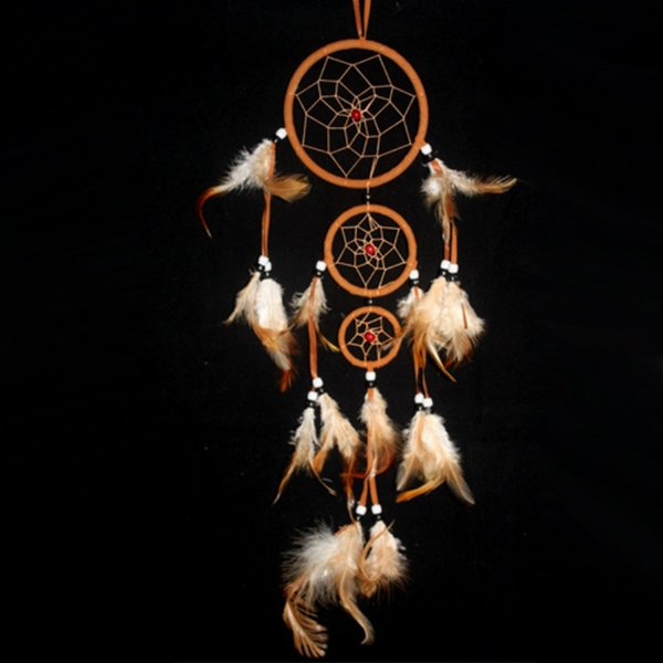 Wholesale- Feather Dream Catcher Mysterious Ethnic Art Craft Wall Hanging Decor 4Colors