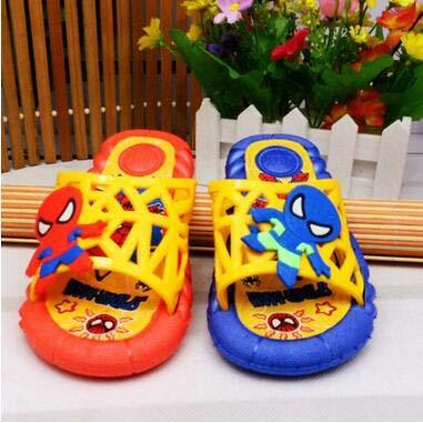 Wholesale Boy's Soft PVC Clogs Spider Cartoon Sandals Children Kid's Non-slip Beach Slippers Sandals for Age 5-8 Free Shipping