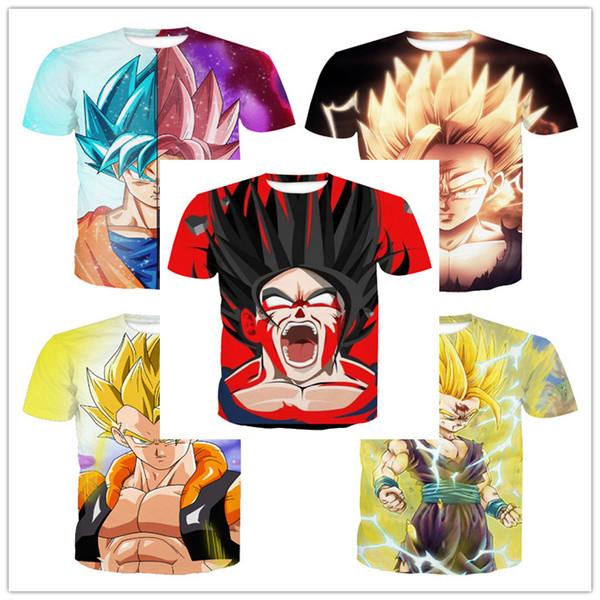 Venta al por mayor más nueva moda para hombre / mujer Classic Anime Dragon Ball Z camiseta verano estilo divertido unisex 3D imprimir Casual camiseta AA382