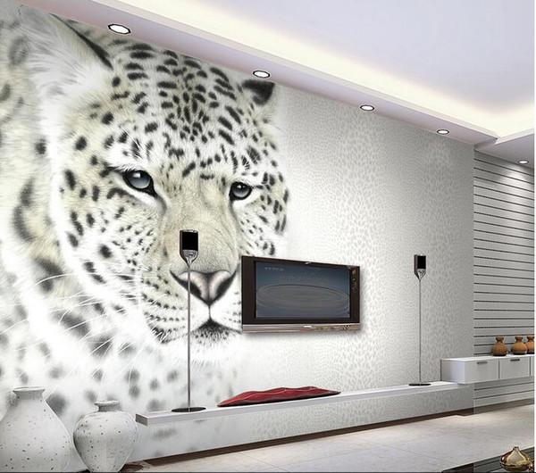 3d Room Wallpaper Custom Photo Mural Modern Fashion Leopard Print Tv Background Wall Decor Painting 3d Wall Murals Wallpaper For Walls 3 D Desktop