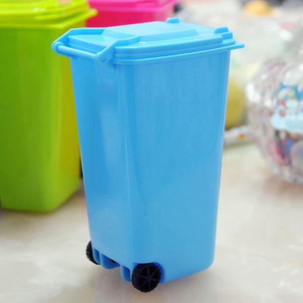 Pulley Environmental Clean Car Model Desktop Trash Bin Mini Car Kitchen Worktop Waste Rubbish Trash Can