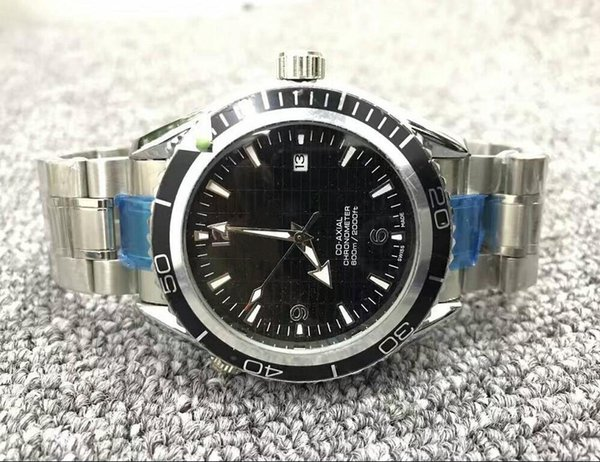 Free shipping hot sale mens lry watch top brand automatic watch steel silver dive watch N8314