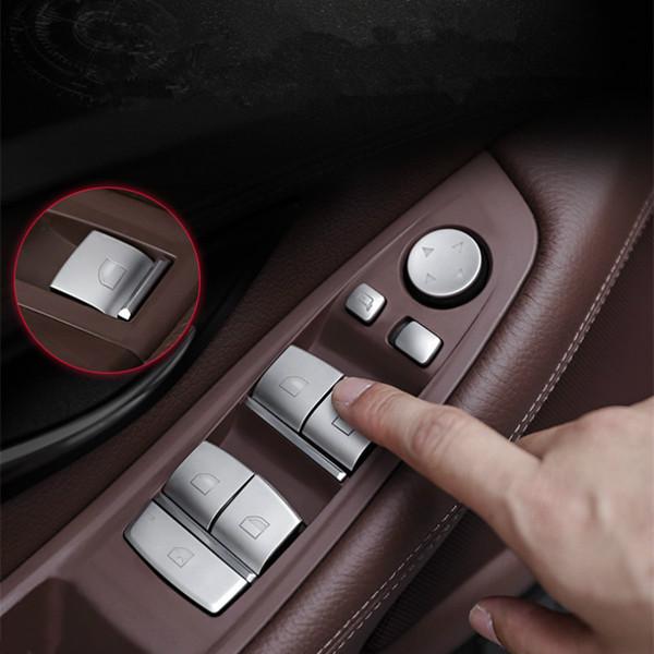 Автомобиль Styling Window Glass Подъемные кнопки Sequins Обложка для BMW 1/3/5/6 Series X1X3X5X6X4 Аксессуары для интерьера автомобиля Наклейки