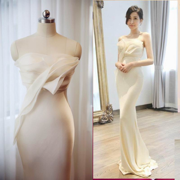 top popular Bridesmaid Dresses Under 50 Party Evening Cocktail Dress Mermaid Long Formal Evening Dress Celebrity Party Formal Evening Ball Prom Dress 2019