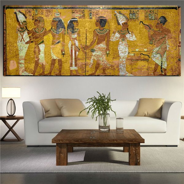 Famous Gustav Klimt Egyptian Painting,Handpainted Abstract Portrait Art oil painting Home Decor on High Quality Canvas size can customized