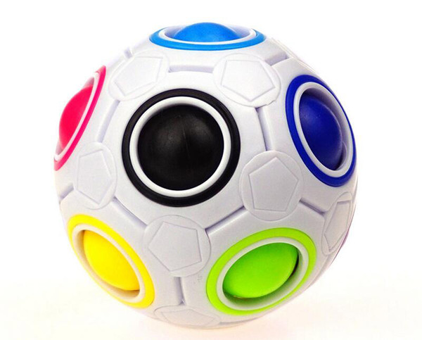 3pcs 2017 New Magic Balls Rainbow Ball Football 3D Puzzles Funny Creative Educational Learning Toys for Children Adult Gifts