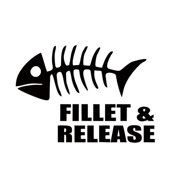 Car Stying Fillet Release Fish Car Sticker For Truck Window Bumper Auto Suv Door Vinyl Decal Creative Stickers Car Accessories Jdm