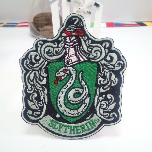 """HARRY POTTER """"SLYTHERIN"""" EXTRA LARGE Embroidered Robe iron on Patch For Clothes Patches Stickers Apparel Accessories"""