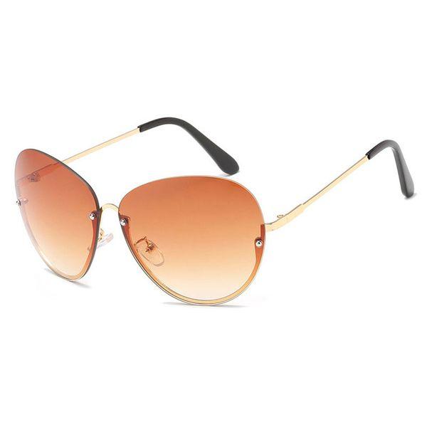 New Arrival Fashion Sunglasses for women half frame metal oversized Eyeglasses female party travel outdoor Vintage Sun Glasses