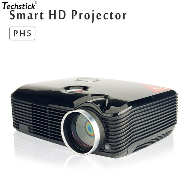 Wholesale-Mini Projector Full Hd 2500 Lumens LED Beamer Red Blue 3D Projeksiyon Multimedia Home Theater HDMI USB SD AV VGA Video Projector