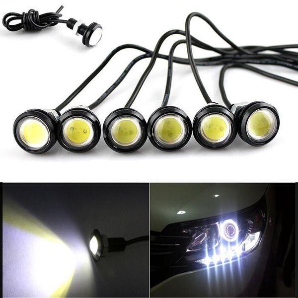 10X NEW Super Brightness Eagle Eye 18MM LED Universal Car DRL Daytime Running Light IP68 Waterproof Daytime car lights
