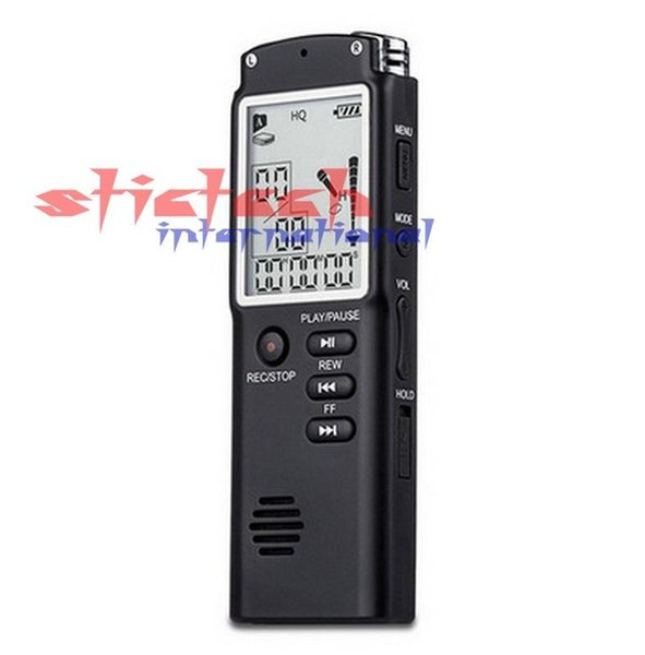 Wholesale- by dhl or ems 50 sets 2016 Rushed Promotion T60 Professional Time Display Recording Digital Voice For Audio Recorder Mp3 Player