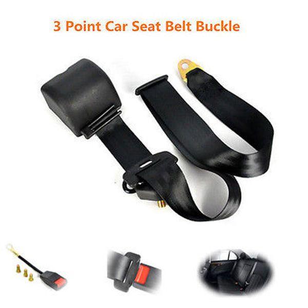 2018 Hi-Quality Universal Retractable 3 Point seat Auto Car Seat Belt Bolt+Safe Extension Buckle Extension Longer Black Free Shipping