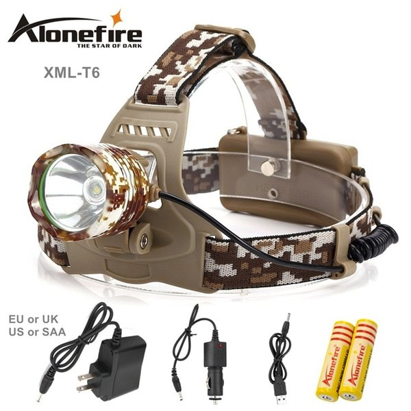 AloneFire HP07 2000Lm Waterproof CREE XML T6 Zoom LED Headlight Headlamp Head Lamp Light Zoomable Adjust Focus For Bicycle Camping Hiking