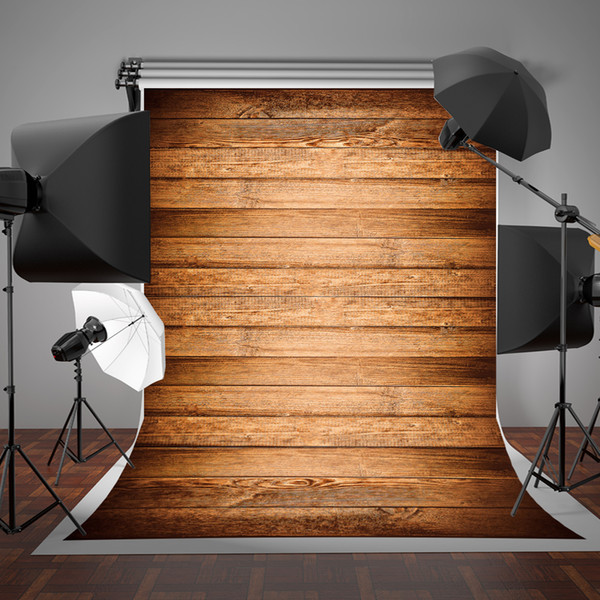 5x7ft Horizontal Stripes Wooden Photographic Backdrop Wrinkles Free and Seamless Baby Photo Studio Background