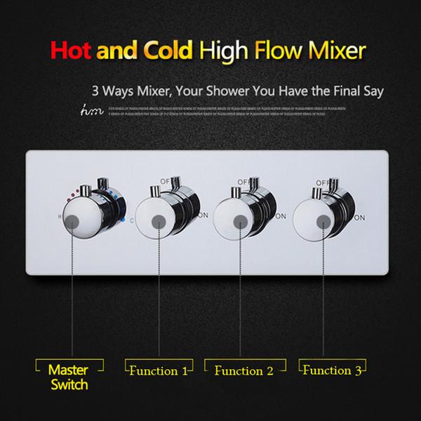 2017 hochwertige 3 wege dusche umsteller ventil Messing chrom heißen und kalten dusche mxer für badezimmer verwenden