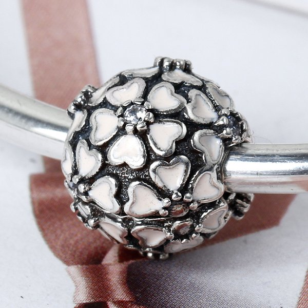 2017 new 925 Sterling Silver Lock Clip Core Stopper Beads Ball For European Charm for Pandora Style Charm Bracelets