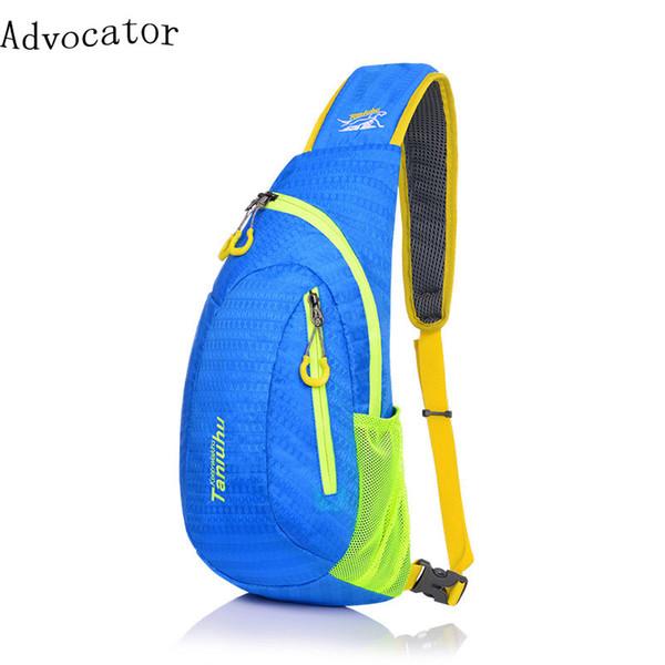 Wholesale- Advocator Nylon Waterproof Litghtweight Men Crossbody Chain Bags Stylish Fresh Men Messenger Bag Candy Color Women Chest Bag